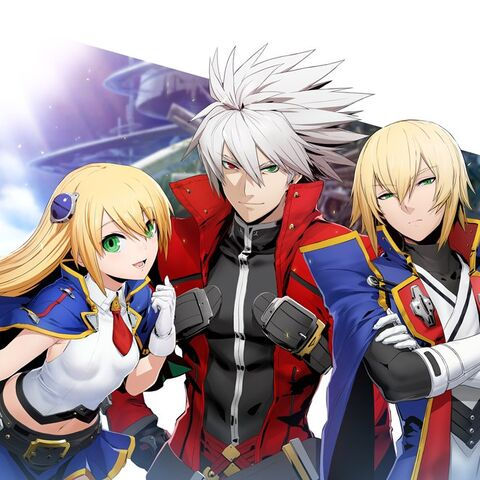 Illustration of Ragna, Noel and Jin for Blazblue 10th Anniversary