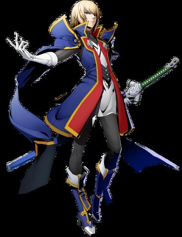File:Jin Kisaragi (BlazBlue Cross Tag Battle, Character Select Artwork).png