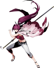 Yuzuriha (BlazBlue Cross Tag Battle, Character Select Artwork)