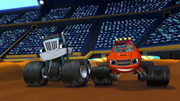 S1E12 Blaze and Crusher neck-and-neck