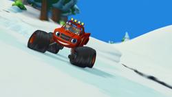 S1E20 Blaze starts riding down the mountain