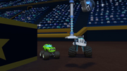 S1E7 Crusher and Pickle observe the bouncy boot machine