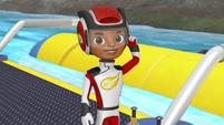 S3E18 AJ activating his visor