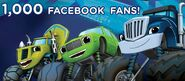 Blaze and the Monster Machines 1000 Facebook Fans photo