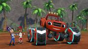 S4E10 Gabby presents Blaze's new Power Tires