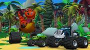 "S2E2 Pickle ""Fluffy's a very friendly tyrannosaurus"""