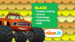 Blaze and the Monster Machines Nick jr. curriculum board