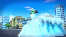 S5E12 Pickle making an ice ramp