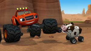 S1E18 Blaze and little cow high tire