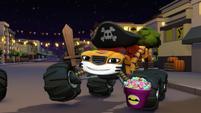 S2E1 Stripes dressed as a pirate