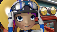 S3E17 Gabby puts her helmet on
