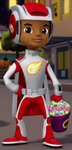S2E3 AJ superhero costume ID