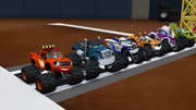 S1E1-2 Monster Machines lined up