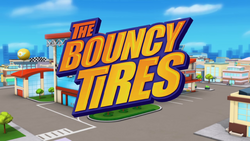 The Bouncy Tires title card