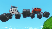 S3E20 Blaze and Crusher high tire in mid-air