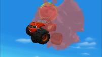 S3E1 Blaze smashes a watermelon