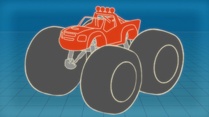 S4E10 Diagram of truck with giant tires