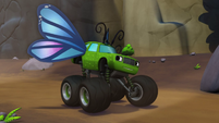S2E3 Pickle dressed as a butterfly