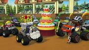 S2E7 Everyone stands around the cake