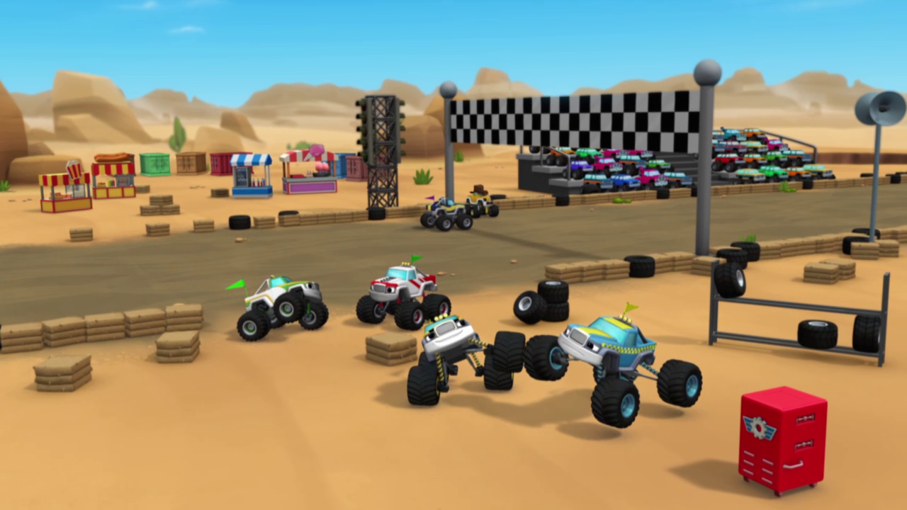 S1e9 Trucks Gather For The Team Truck Challenge Png