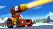 S3E3 Blaze fires the heat cannon