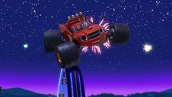 S4E19 Blaze jumping into the night