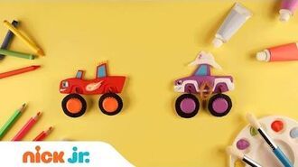 Crafting Light Riders w Blaze & Starla Blaze and the Monster Machines Nick Jr.