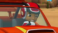 S1E1-2 AJ driving Blaze confidently