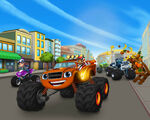 Blaze and the Monster Machines early Axle City promotional