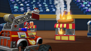 S2E11 Blaze and AJ see the hot dog stand fire