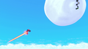 S4E11 Blaze about to destroy the giant snowball