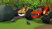 S2E10 Blaze and Stripes find caterpillars