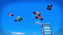 S5E12 Super Team flying happily