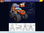 Blaze fire truck concept art