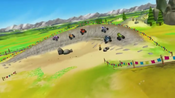 S2E4-5 Monster Machines driving on a rocky curve