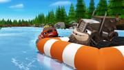 S1E13 Blaze starts pushing the raft