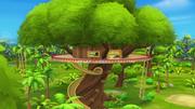 S1E8 Exterior of Stripes' treehouse