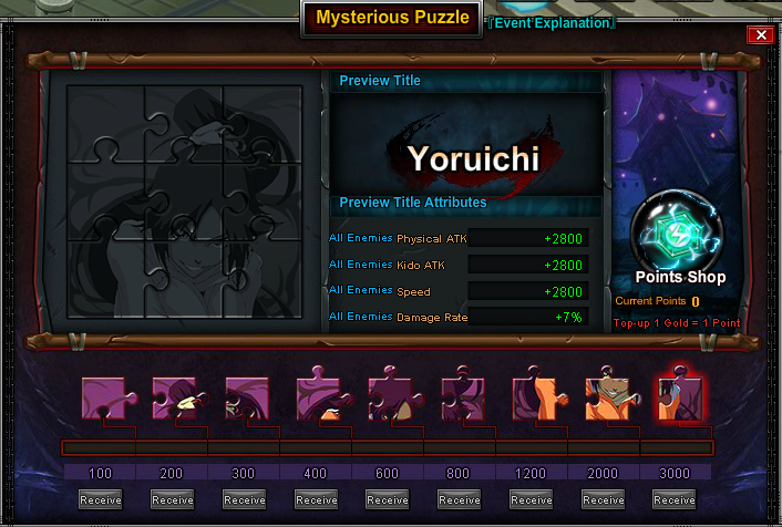Mysterious Puzzle Yoruichi