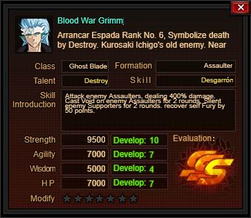 BloodWarGrimmjowCard