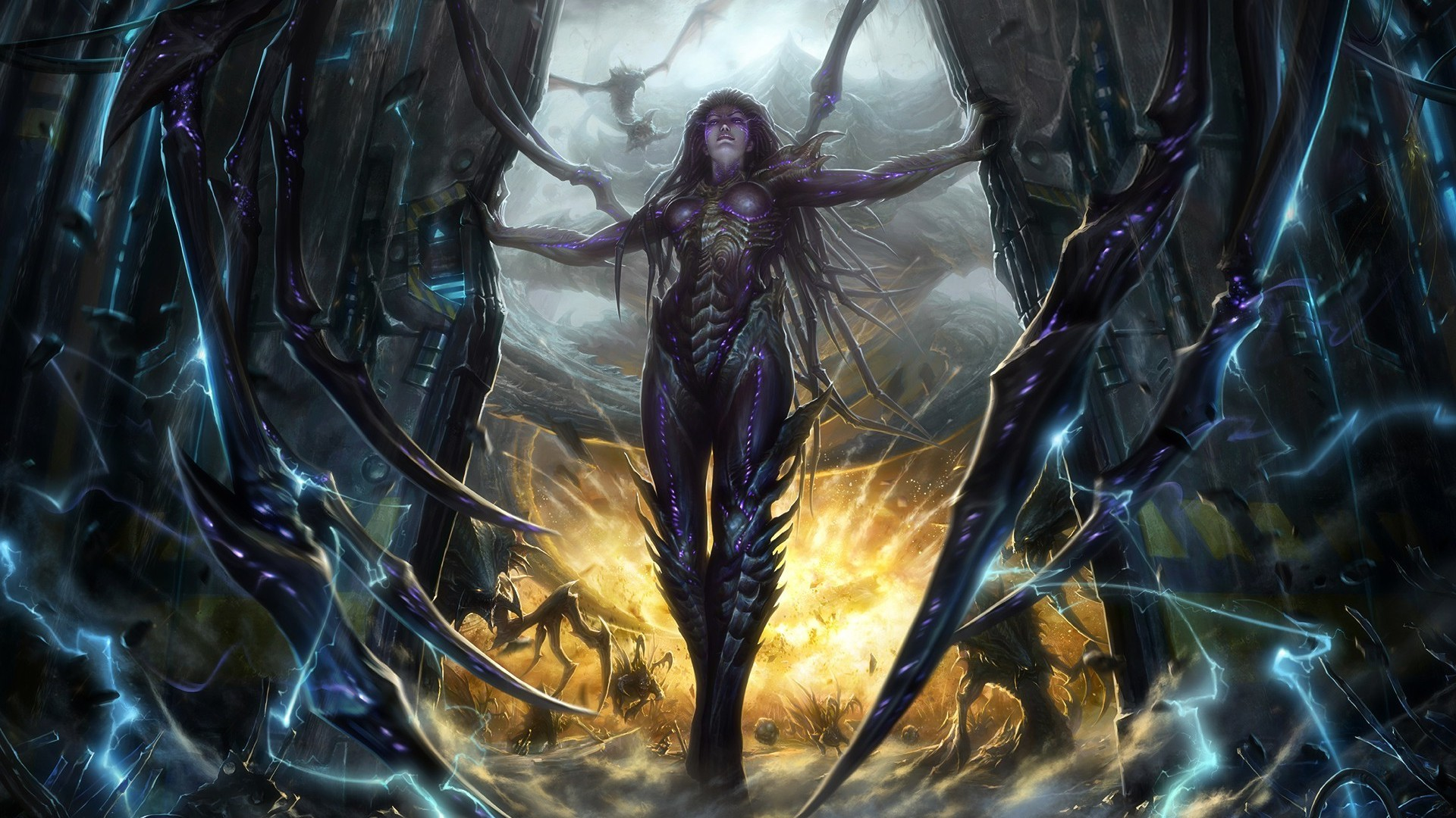 File Sarah Kerrigan Starcraft Game Hd Wallpaper 1920x1080 1912 also 6873968 Gaming Wallpaper further 6958100 Daisies Green Background additionally Charlotte Anime Wallpapers also Colorful background 4 Wallpapers. on tv background wallpaper