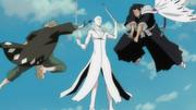 Aizen detiene a Isshin y a Kisuke