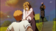 Ichigo gets choked by his mother