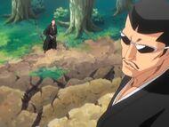Ikkaku and Iba fight