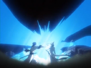 Ulquiorra é atacado por Grimmjow
