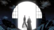O301 Gin i Aizen przechodzą przez Senkaimon