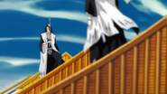 Byakuya faces off against his Reigai