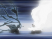 Serangan terakhir Byakuya vs. Ichigo