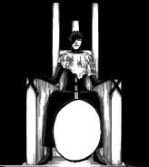 R621 Aizen na krześle