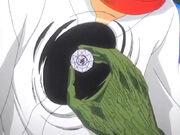 Aizen extrae la Hougyoku de Rukia