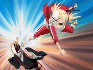 Hiyori and Ichigo training